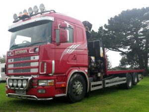 Crane haulage, flat bed trucks, container delivery, large and wide load delivery Cornwall